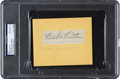 Baseball Collectibles:Others, 1937 Babe Ruth Signed Cut, PSA/DNA Gem Mint 10. ...