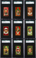 """Baseball Cards:Sets, 1911 T205 Gold Borders Partial Set (83 Different) - All """"PolarBear"""" Brand Backs! ..."""