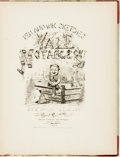 Books:Art & Architecture, [Yale University]. [Charles Holmes Goodman]. Peter Squills. Pen and Ink Sketches of Yale Notables. St. Louis: Soule,...