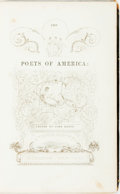 Books:Literature Pre-1900, John Keese, editor. The Poets of America: Illustrated by One of her Painters. New York: S. Colman, 1840. First editi...