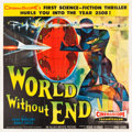 "Movie Posters:Science Fiction, World Without End (Allied Artists, 1956). Six Sheet (79.5"" X 79"")Style A.. ..."