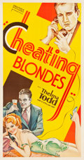 "Movie Posters:Mystery, Cheating Blondes (Equitable Pictures, 1933). Three Sheet (41.5"" X78"").. ..."