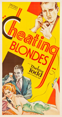 "Cheating Blondes (Equitable Pictures, 1933). Three Sheet (41.5"" X 78"")"