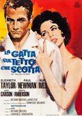 "Movie Posters:Drama, Cat on a Hot Tin Roof (MGM, R-1966). Italian 4 - Foglio (55"" X78"").. ..."