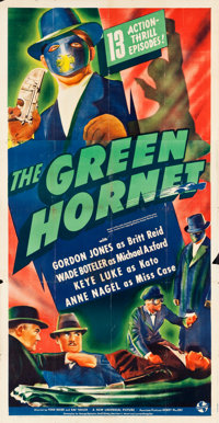 "The Green Hornet (Universal, 1940). Three Sheet (41"" X 81"")"