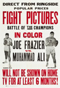 "Movie Posters:Sports, Frazier vs. Ali Fight (Cinerama Releasing, 1971). One Sheet (27"" X41"").. ..."