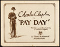 "Movie Posters:Comedy, Pay Day (First National, 1922). Title Lobby Card (11"" X 14"").. ..."
