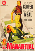 """Movie Posters:Drama, The Fountainhead (Warner Brothers, 1949). Spanish One Sheet (26.5""""X 38.75"""").. ..."""