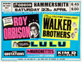 "Movie Posters:Rock and Roll, Roy Orbison/The Walker Brothers (Arthur Howes, April 23, 1966). British Quad Concert Poster (30"" X 40"").. ..."