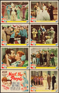 """Movie Posters:Comedy, Meet the People (MGM, 1944). Lobby Card Set of 8 (11"""" X 14"""").. ...(Total: 8 Items)"""