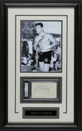 Boxing Collectibles:Autographs, James Braddock Signed Index Card Display....