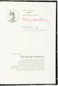 Books:Science Fiction & Fantasy, [Featured Lot] [Limited Editions Club]. Ray Bradbury. SIGNED. The Martian Chronicles. Illustrated by Joseph Mugnaini...