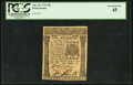 Colonial Notes:Pennsylvania, Pennsylvania April 25, 1776 40s PCGS Extremely Fine 45.. ...
