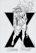Original Comic Art:Splash Pages, Mike DeCarlo Emma Frost / White Queen Pin-Up Original Art(2014).. ...