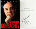 Books:Biography & Memoir, Mikhail Gorbachev. SIGNED. Memoirs. Doubleday, [1996]. Firstedition. Signed by the author. Publisher's binding ...