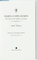 Books:Science Fiction & Fantasy, J.R.R. Tolkien. The Children of Hurin. Edited by ChristopherTolkien. Illustrated by Alan Lee. London: HarperCollins...