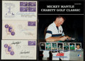 Baseball Collectibles:Others, Baseball Greats Signed First Day Covers and Mantle Golf Program Lotof 4. ...