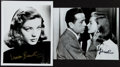 Autographs:Others, Lauren Bacall Signed Photographs Lot Of 2...