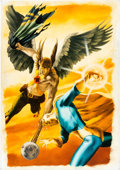 Original Comic Art:Covers, John Watson Hawkman #25 Cover Painting Original Art (DC,2002)....