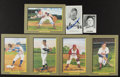 Autographs:Post Cards, Perez Steele Signed Great Moments Postcards And Cards Lot Of 7....
