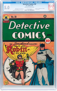 Detective Comics #38 (DC, 1940) CGC VG/FN 5.0 Off-white to white pages