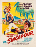 "Movie Posters:Comedy, Road to Singapore (Paramount, Late 1940s). First Post-War FrenchGrande (47.5"" X 63"").. ..."