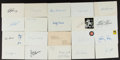 Autographs:Index Cards, Baseball Greats Signed Index Cards Lot Of 30+. ...