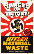 "Movie Posters:War, World War II Propaganda (Lockheed, 1940s). Silk Screen Poster (28""X 44"") ""Target for Victory!"". ..."