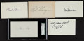 Football Collectibles:Others, Football Greats Signed Index Cards Lot Of 5....