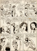 Original Comic Art:Panel Pages, Reed Crandall and Rudy Palais Feature Comics #62 Doll ManPage 4 Original Art (Quality Comics, 1942)....
