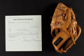 Autographs:Others, Ted Williams Signed Document And Store Model Glove....