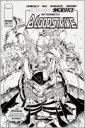 Original Comic Art:Covers, Karl Alstaetter and Danny Miki Bloodstrike #19 CoverOriginal Art (Image, 1995)....