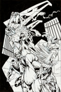 Original Comic Art:Covers, Mark Bagley and Scott Hanna Thunderbolts #26 Cover OriginalArt (Marvel, 1999)....