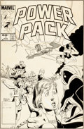 Original Comic Art:Covers, June Brigman and Bob Wiacek Power Pack #1 AlternateUnpublished Cover Original Art (Marvel, 1984)....