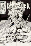 Original Comic Art:Covers, Paul Chadwick and Jackson Guice Dazzler #41 Cover OriginalArt (Marvel, 1985)....