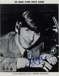 Music Memorabilia:Autographs and Signed Items, Beatles - Ringo Starr Signed Vintage Beatles Fan Club PhotoAlbum....