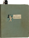 "Movie/TV Memorabilia:Documents, A Sidney Miller-Owned Binder of Notes Related to ""The Mickey MouseClub.""..."
