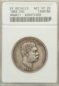Coins of Hawaii: , 1883 50C Hawaii Half Dollar -- Scratched -- ANACS. XF Details, NetVF20. NGC Census: (5/486). PCGS Population (11/709). Min...