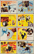 "Movie Posters:Musical, Cabin in the Sky (MGM, 1943). Lobby Card Set of 8 (11"" X 14"").. ...(Total: 9 Items)"
