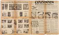 """Lon Chaney in The Big City & Others Lot (MGM, 1928). Pressbooks (5) (Multiple Pages, 17"""" X 21""""). ... (Tota..."""