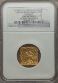 German States:Nurnberg, German States: Nurnberg. Free City gold Klippe Ducat ND (1700)-CGL UNC Details (Mount Removed) NGC,...