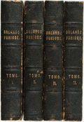 Books:Literature Pre-1900, Ludovici Ariosto. L'Orlando Furioso e le Satire di LudovicoAriosto...Paris: Baudry, 1836. Four volumes. Contemporar...(Total: 4 Items)