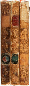 Books:Literature Pre-1900, Gilbert West. Odes of Pindar. London: J. Dodsley, 1766.Three volumes. Contemporary tree calf. A few spine labels wo...(Total: 3 Items)