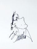 Original Comic Art:Sketches, Berke Breathed Bloom County Opus Sketch Signed (undated)....