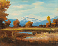 ROBERT WILLIAM WOOD (American, 1889-1979) Mount Tom Bishop, California Oil on canvas 16 x 20 inch