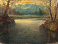 Paintings, ROBERT WILLIAM WOOD (American, 1889-1979). Morning Light on the Lake. Oil on canvas. 24 x 32 inches (61.0 x 81.3 cm). Si...