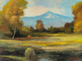 Texas:Early Texas Art - Regionalists, ROBERT WILLIAM WOOD (American, 1889-1979). Mount Tom Bishop,California. Oil on canvas. 17-3/4 x 24-1/8 inches (45.1 x 6...