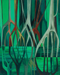 Fine Art - Painting, American:Contemporary   (1950 to present)  , JOHN (HANNS) SKOLLE (German/American, 1903-1988). Mangroves,1969. Oil on board. 36 x 29 inches (91.4 x 73.7 cm). Signed...