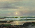 Paintings, ROBERT WILLIAM WOOD (American, 1889-1979). Surf at Laguna Beach. Oil on canvas. 15-3/4 x 20-1/8 inches (40.0 x 51.1 cm)...