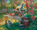 Paintings, DONALD F. RICKS (American, 1929-1996). Summer Bounty. Oil on canvas. 36 x 44 inches (91.4 x 111.8 cm). ...